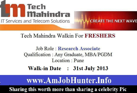 Pune walkins for tech mahindra company