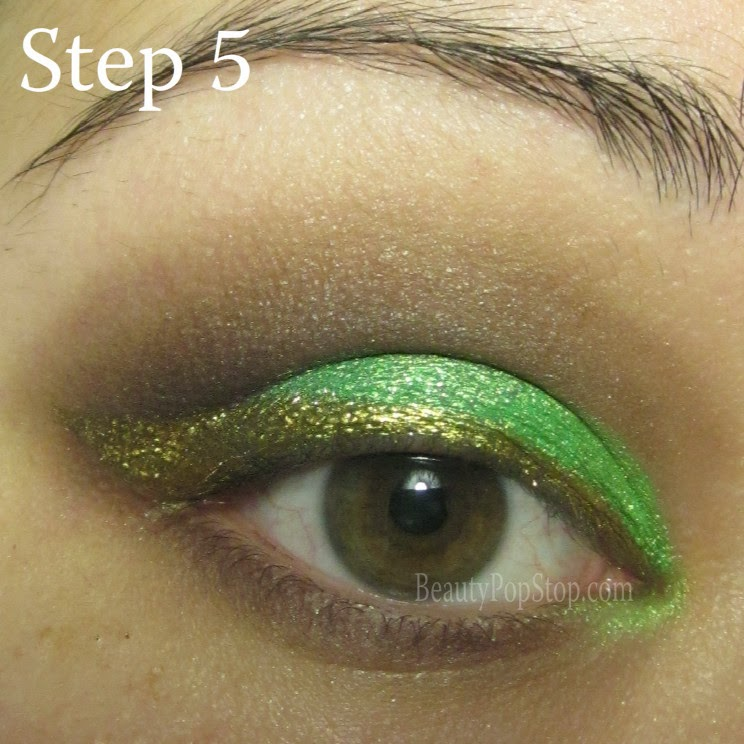 st patrick's day makeup tutorial using sugarpill goldilux