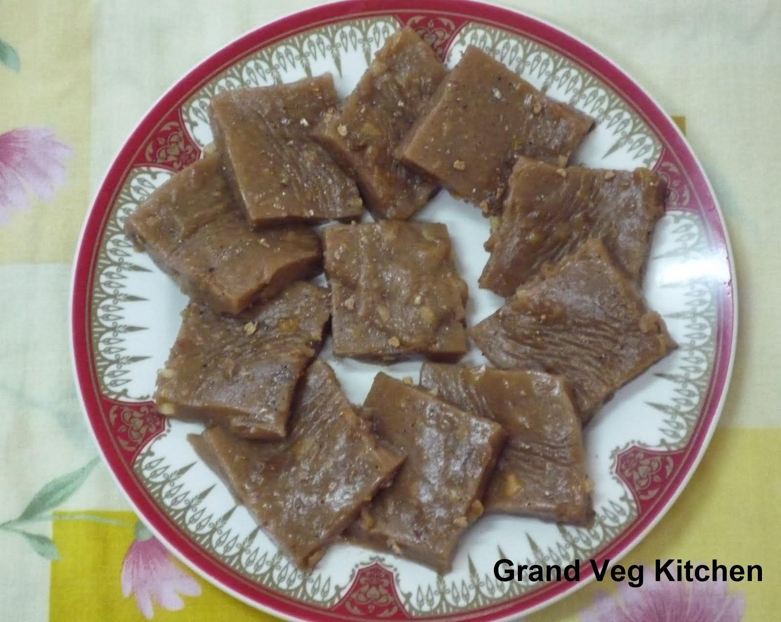 Fnger Millet Fudge/Ragi Halbai