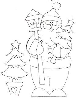 Risco para pintura - Papai Noel
