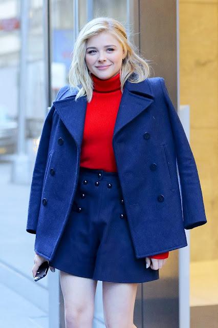 Actress, Model, @ Chloe Moretz leaving SiriusXM Radio in New York City