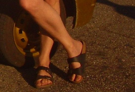 Sandale, saboti barbati langa roata matiz golden yellow, 155/65/R13