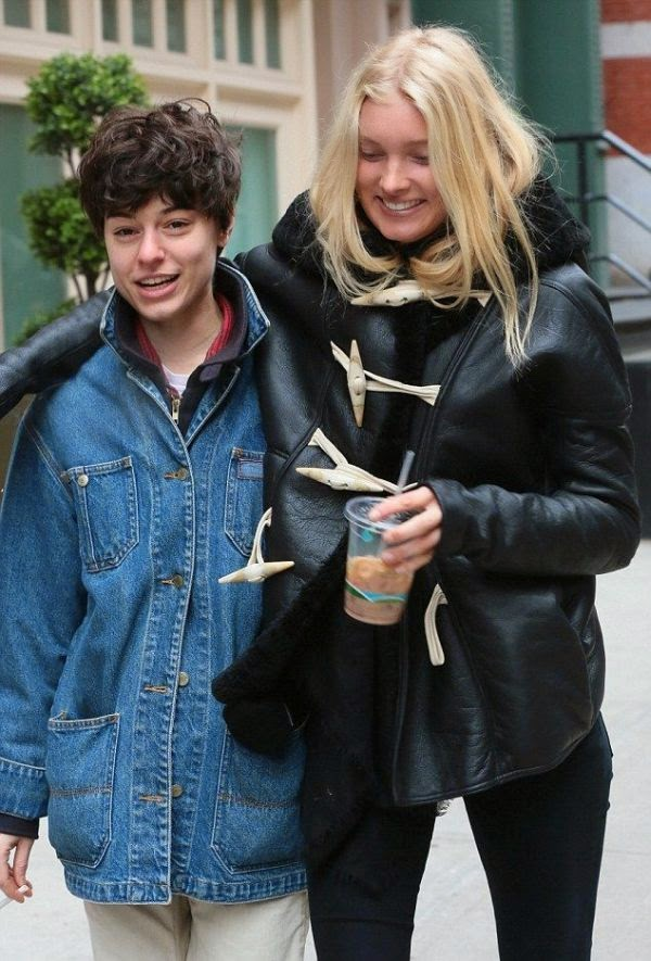 Maybe we're overreacting, but we're really surprised by this lifestyle.  We meant, it's gotta be tought adjusting to such a change as Elsa Hosk caught her casually holding a cigarette at New York, NY, USA on Sunday, December 21, 2014.