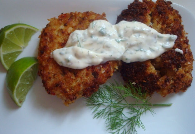 ... Which Things Grow: Chew on This | Crab Cakes with Lime Aioli Sauce
