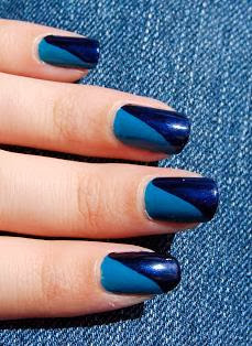 Blue Colour Nail Art