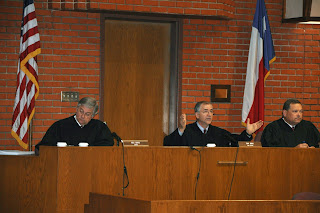The 10th Court of Appeals heard oral arguments in the courtroom.