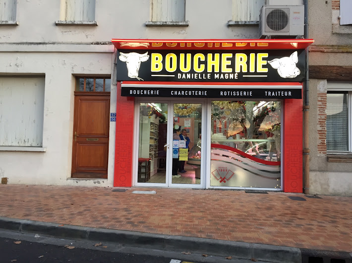 nouvelle enseigne pour la boucherie Magné en janvier 2017