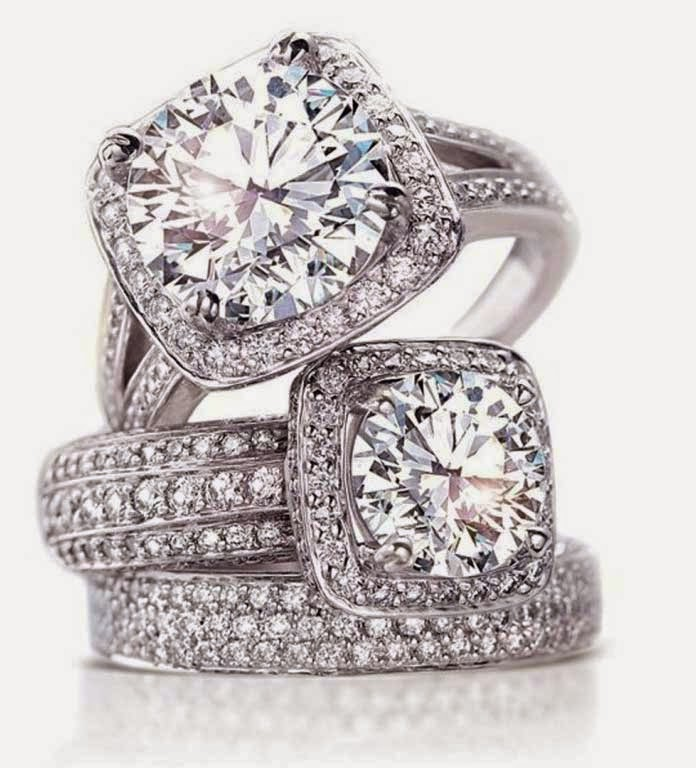 Womens Square Diamond Wedding Rings Halo Settings pictures hd