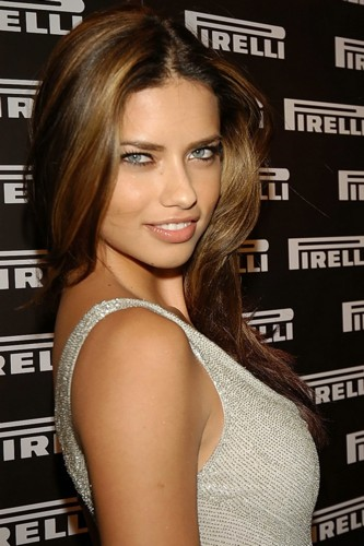 adriana lima hair colour. adrianna lima makeup.