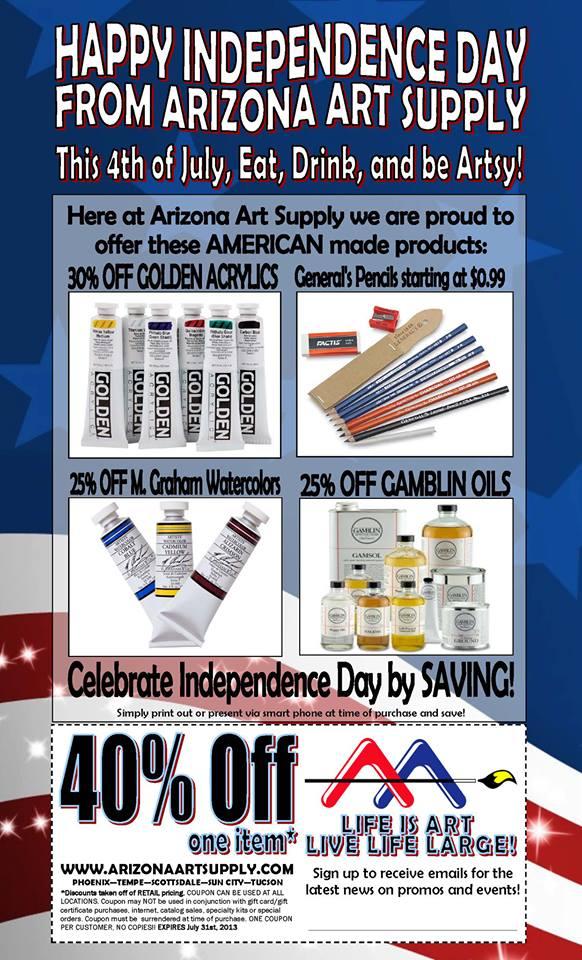 Art supplies coupons