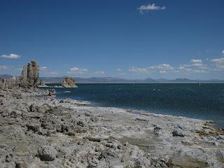 Tufa formations along the shoreline of Mono Lake, California