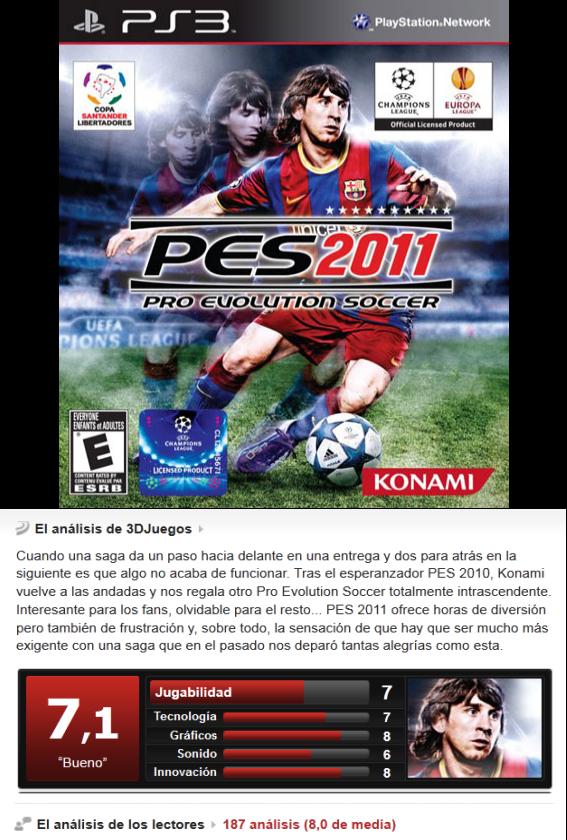 PES 2011 -PS3-
