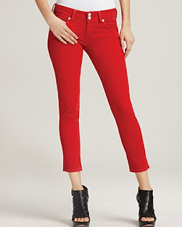 Skinny Cropped colored Jeans