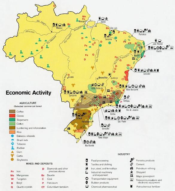 Juegos De Baño Corona:Mapa-de-Actividad-Economica-de-Brasiljpg