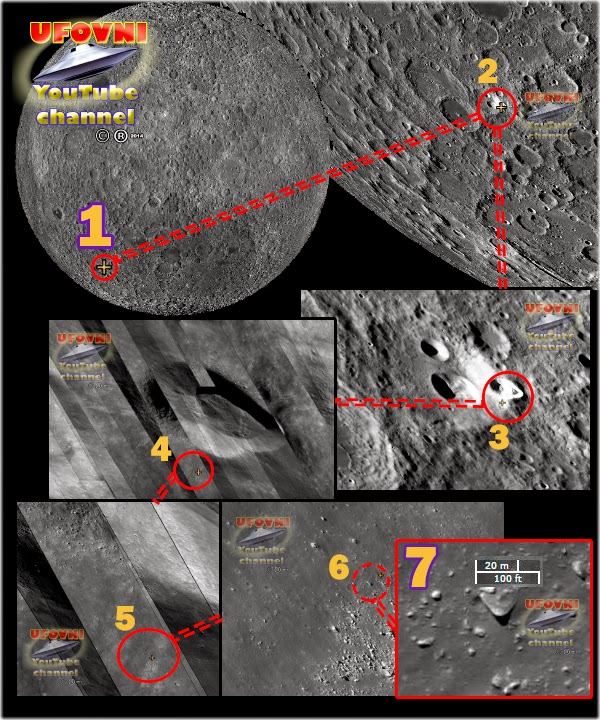 UFO OVNI ON THE MOON TR3B