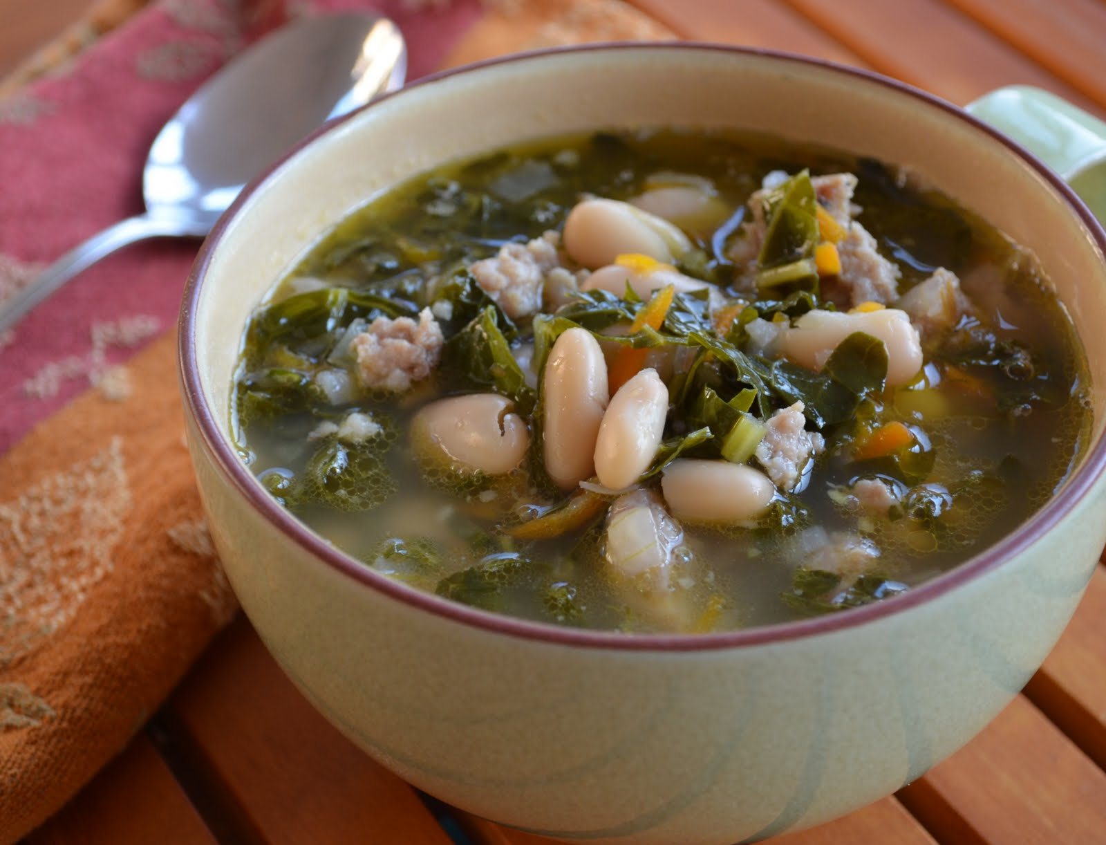 Italian Sausage, White Bean, and Kale Soup - Family Balance Sheet