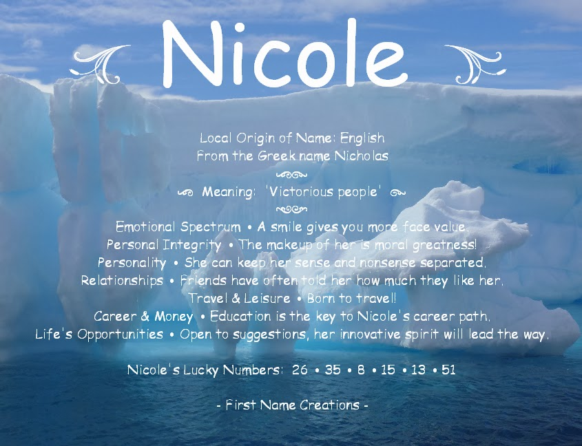Nicole Name Meaning
