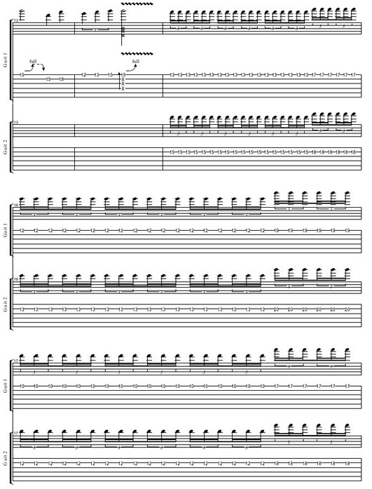 Guitar guitar tabs avenged sevenfold : GUITARTABMAKER: AVENGED SEVENFOLD NIGHTMARE SOLO TAB (COVER BY ...