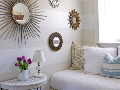 Dishing up design white stripes in the bedroom for Bedroom ideas to boost intimacy