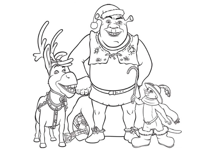 free christmas cartoon coloring pages - photo#4