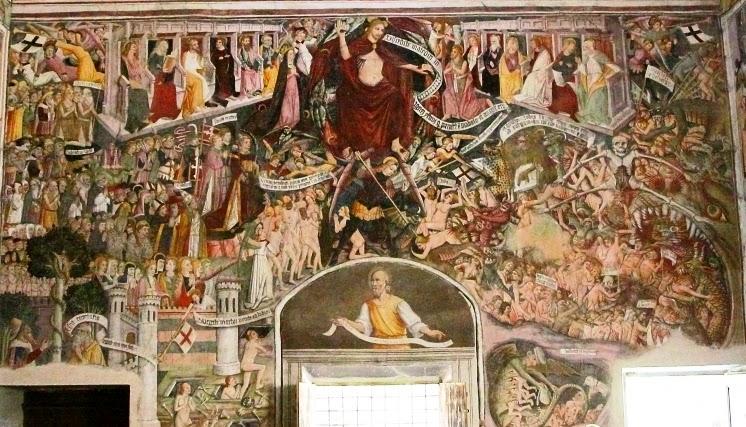 Le jugement dernier de la chapelle Notre Dame des Fontaines
