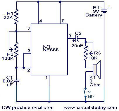 cw practice oscillator the circuit rh easycircuit012 blogspot com Simple Circuit Diagrams circuit diagram exam questions