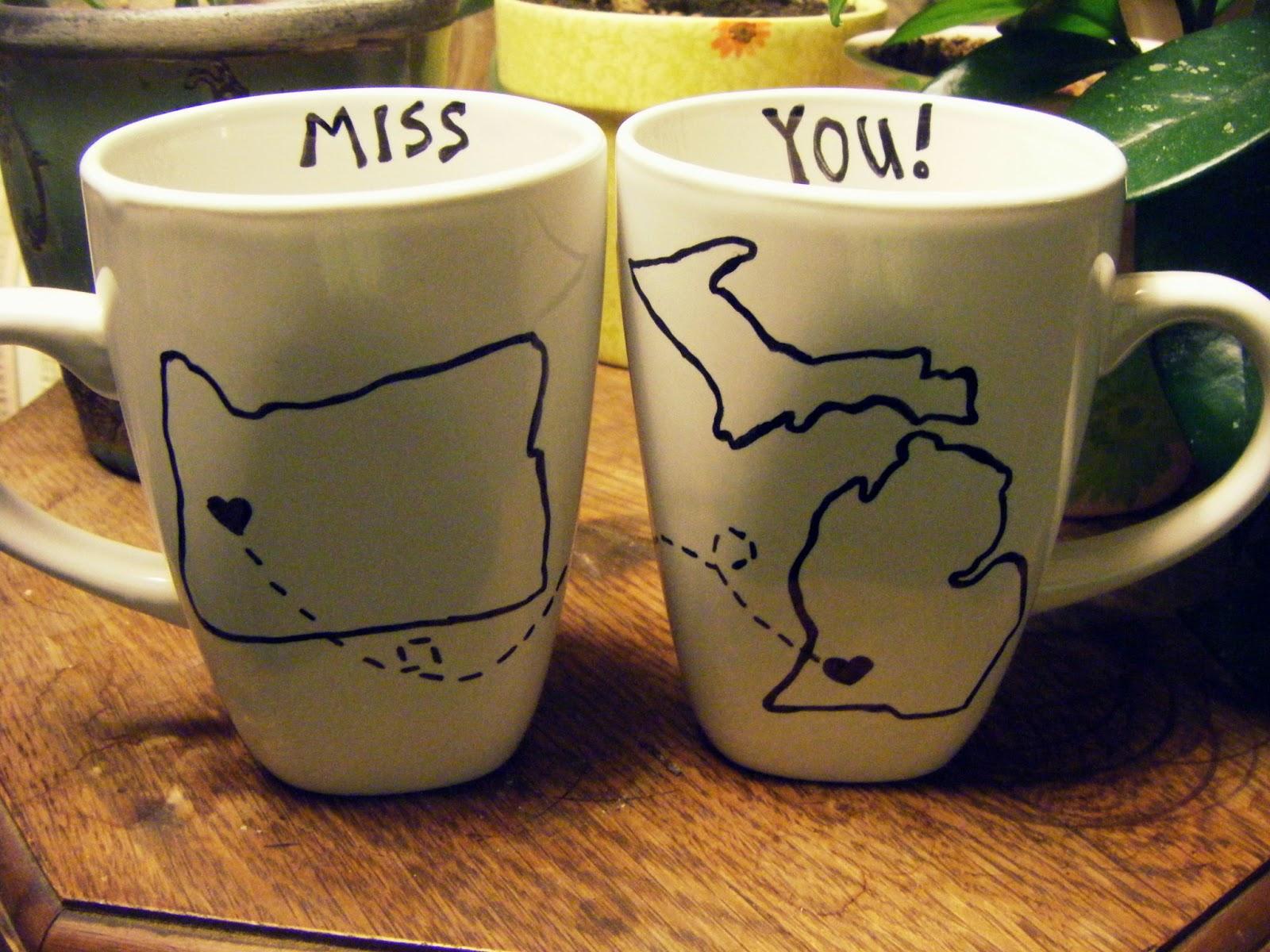 Shellmo Diy Long Distance I Miss You Mugs With Sharpie