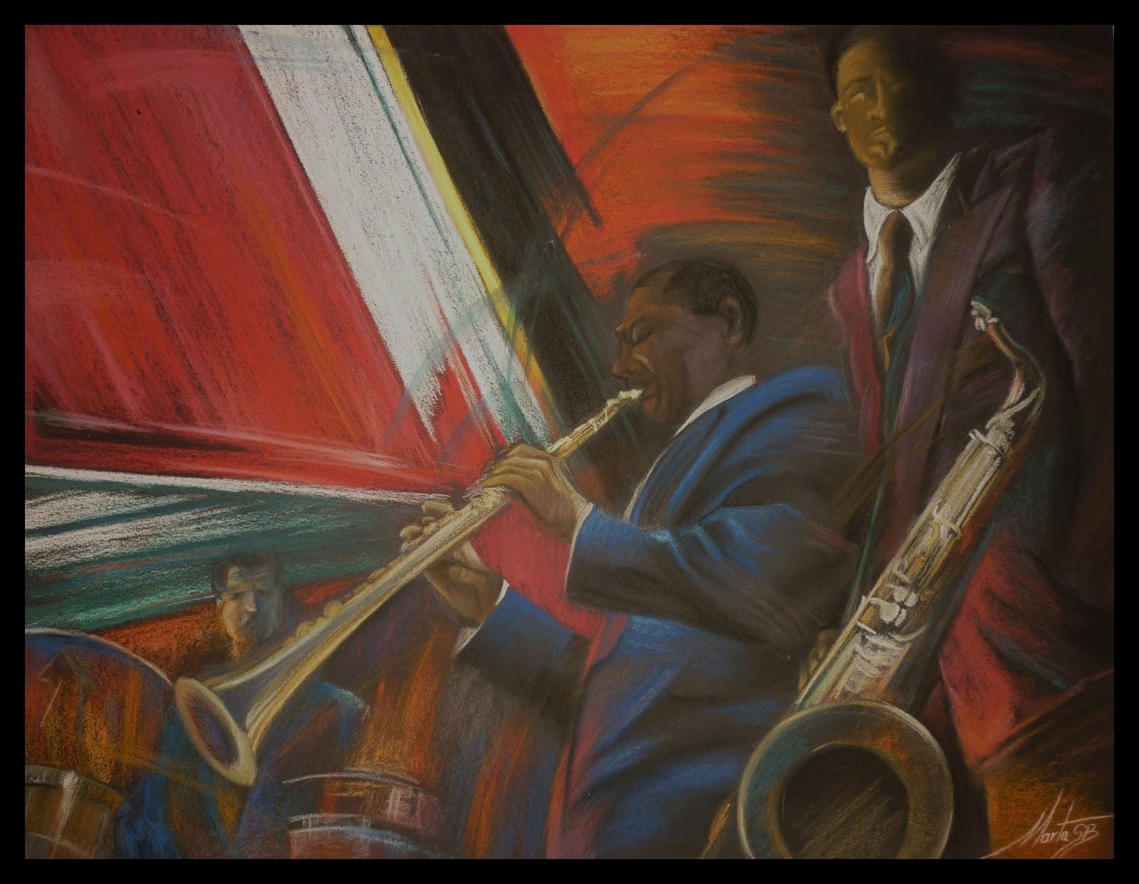 Jazz Music es un cuadro pintado por MartaSb con pinturas pastel