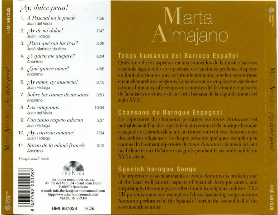 Marta Almajano - ¡Ay Dulce Pena!