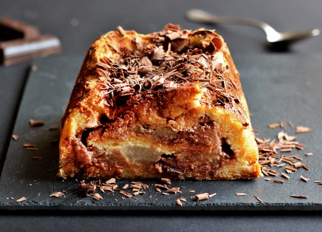 croque cake poire chocolat il tait une fois la p tisserie. Black Bedroom Furniture Sets. Home Design Ideas
