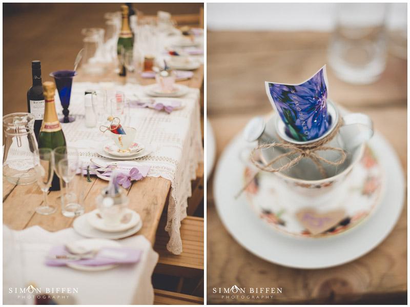 Roughmoor Farm wedding table layout