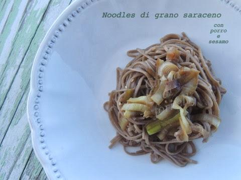 noodles porro e sesamo