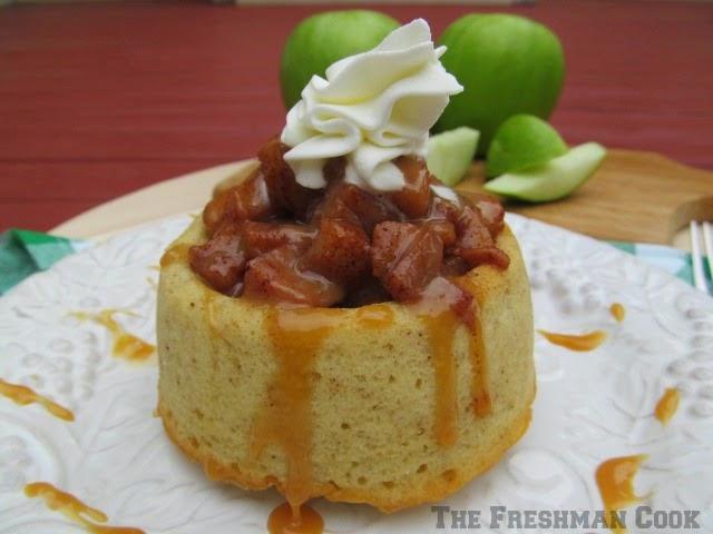 carmelized apple spice cake
