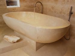 crema marfil bathtub