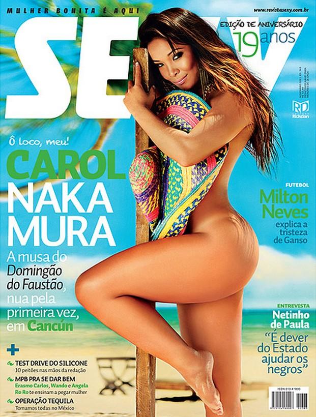 fotos Carol Nakamura do Faustão nua na Sexy