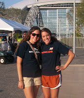 Lauren and I at Denver Broncos  football game in Dallas, TX