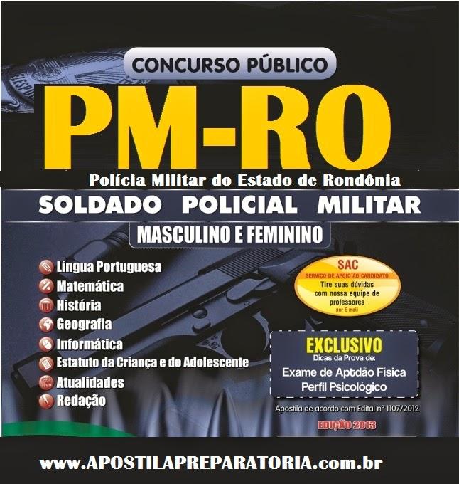 Apostila POLÍCIA MILITAR - RONDÔNIA 2014