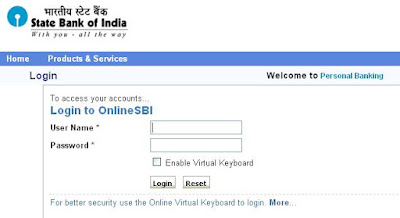 Login to OnlineSBI