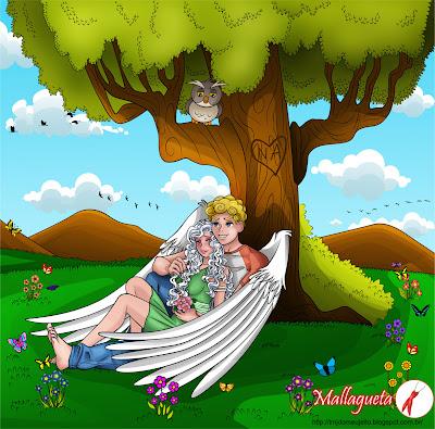 Angelo e nina juntos no morro da coruja