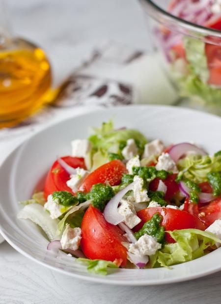 Салат с фетой фото рецепт