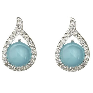 turquoise with white stones