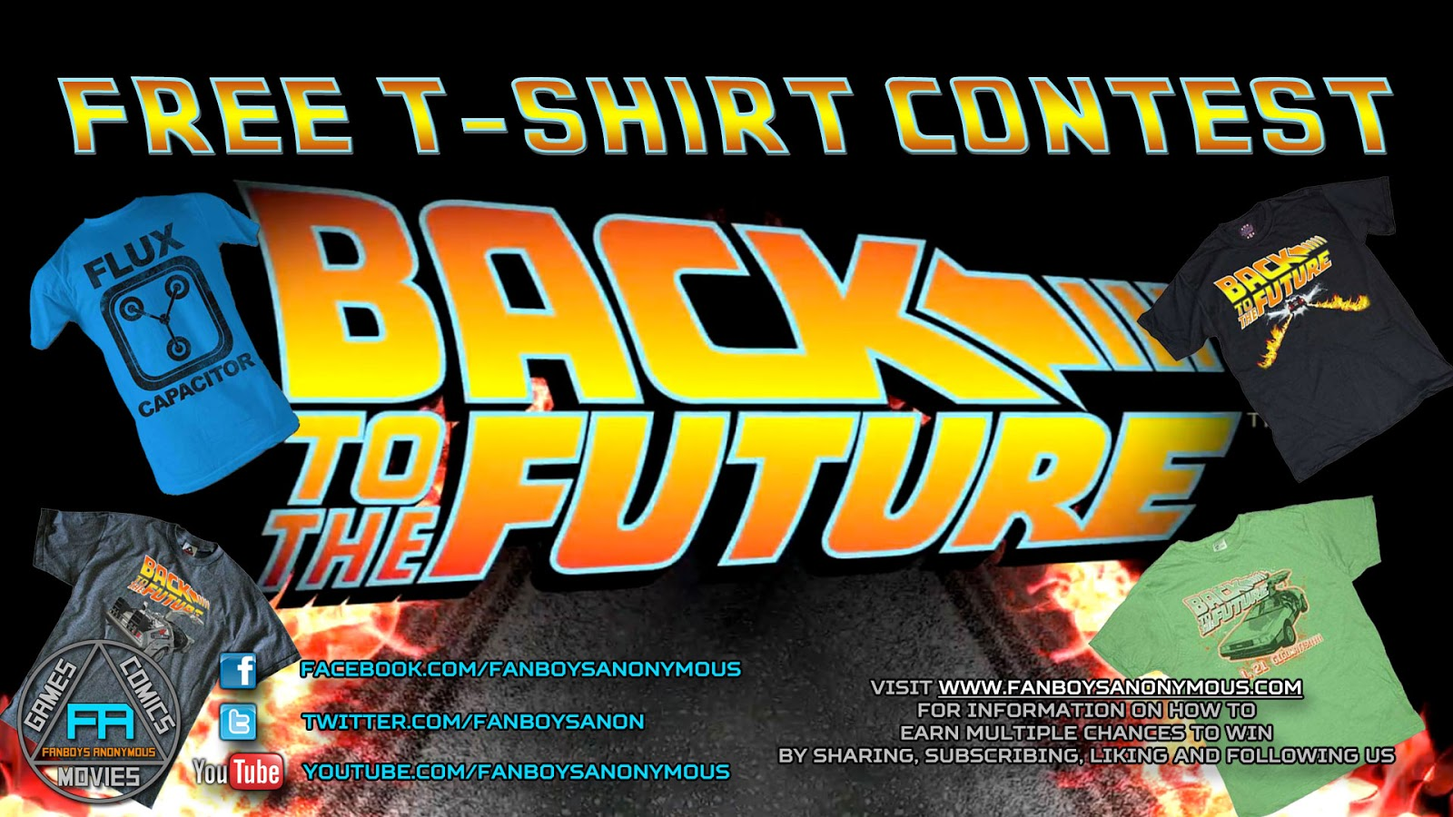 win a free Back to the Future shirt by subscribing to Fanboys Anonymous