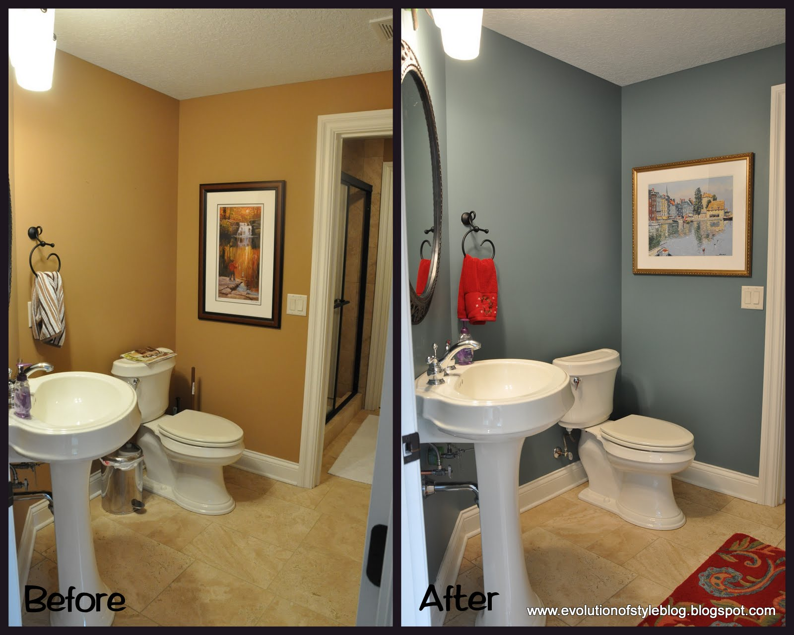 Powder room palooza evolution of style for Paint colors for powder rooms