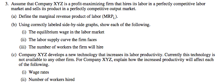 Ap Microeconomics 2010 Multiple Choice Questions