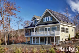 Bright minded home for Maine eco homes