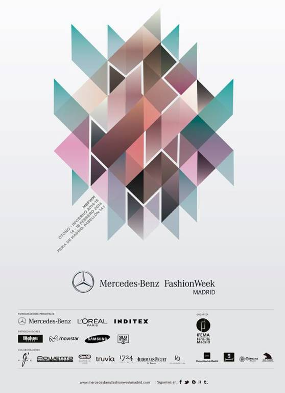 cartel mercedes benz fashion week madrid otoño invierno 2014 2015