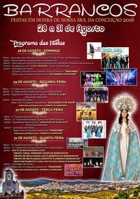 Barrancos- Festas em Hª de Nª Srª da Conceição 2016- 28 a 31 Agosto