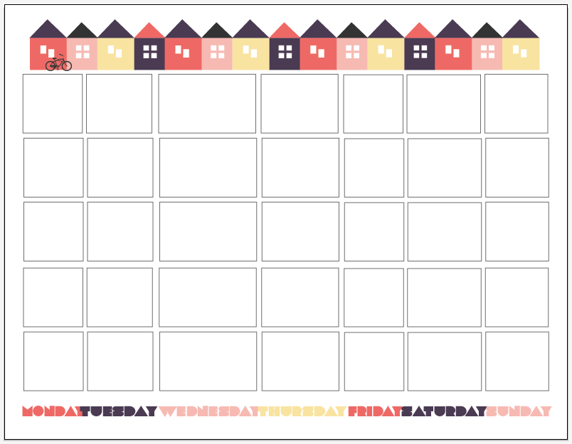 New version of the calendar printable, click here!