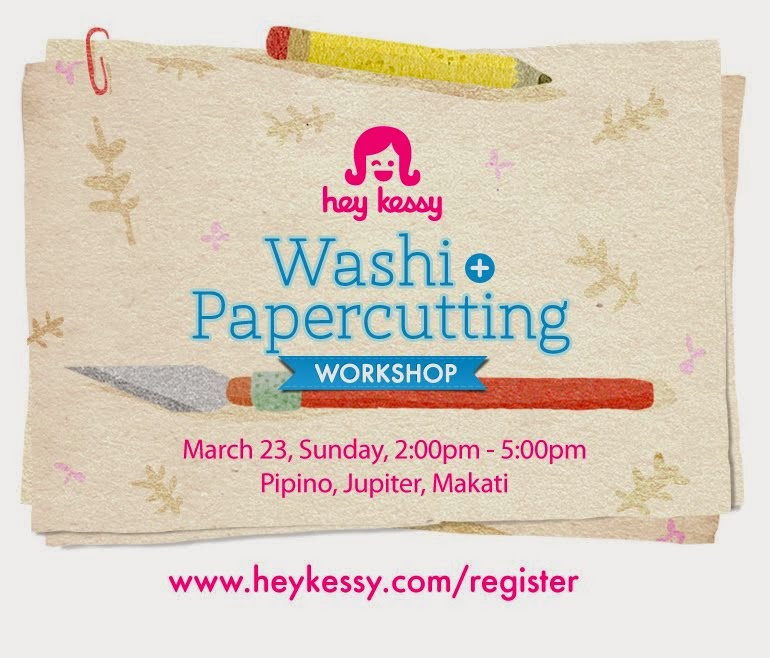 Washi + Papercutting Workshop on Mar23 in Makati!