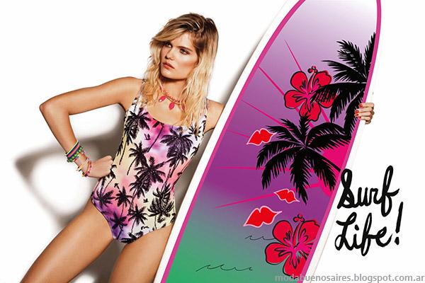 Bikinis y mallas enterizas verano 2015. Dolcisima trajes de baño moda verano 2015.